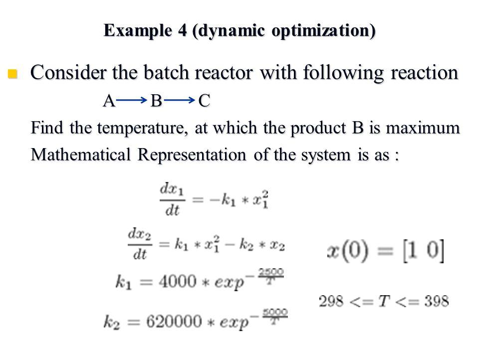 Example 4 (dynamic optimization)