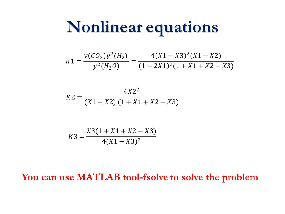 You can use MATLAB tool-fsolve to solve the problem