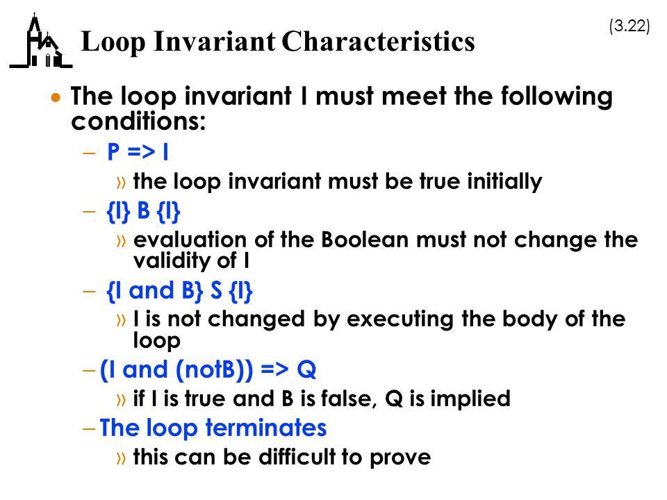 Loop Invariant Characteristics
