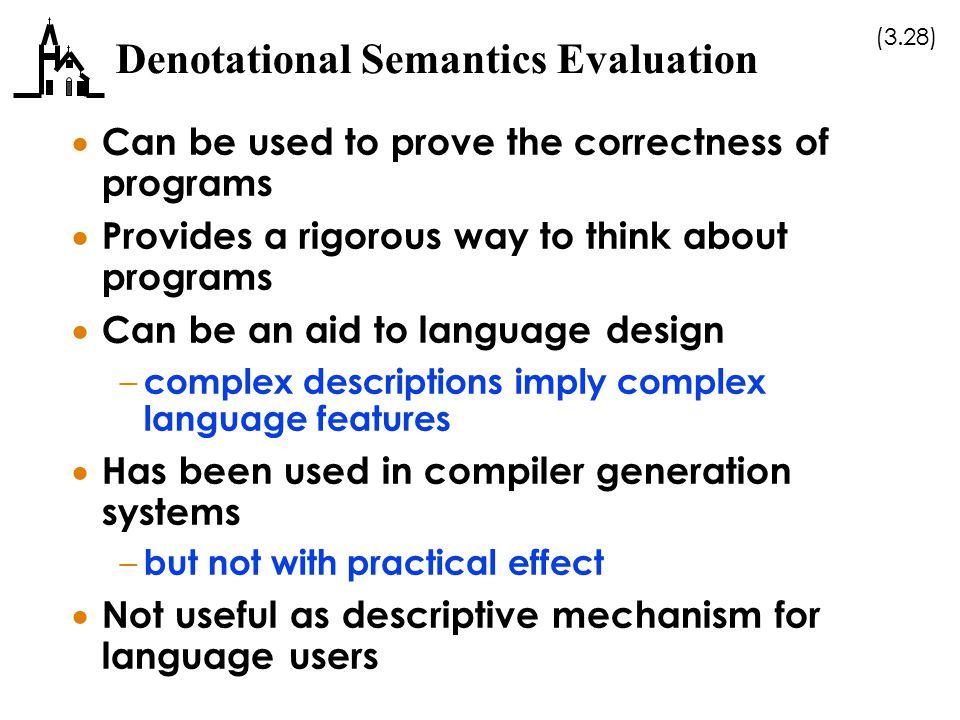 Denotational Semantics Evaluation