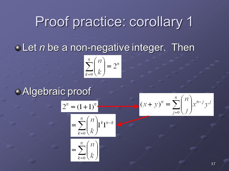 Proof practice: corollary 1