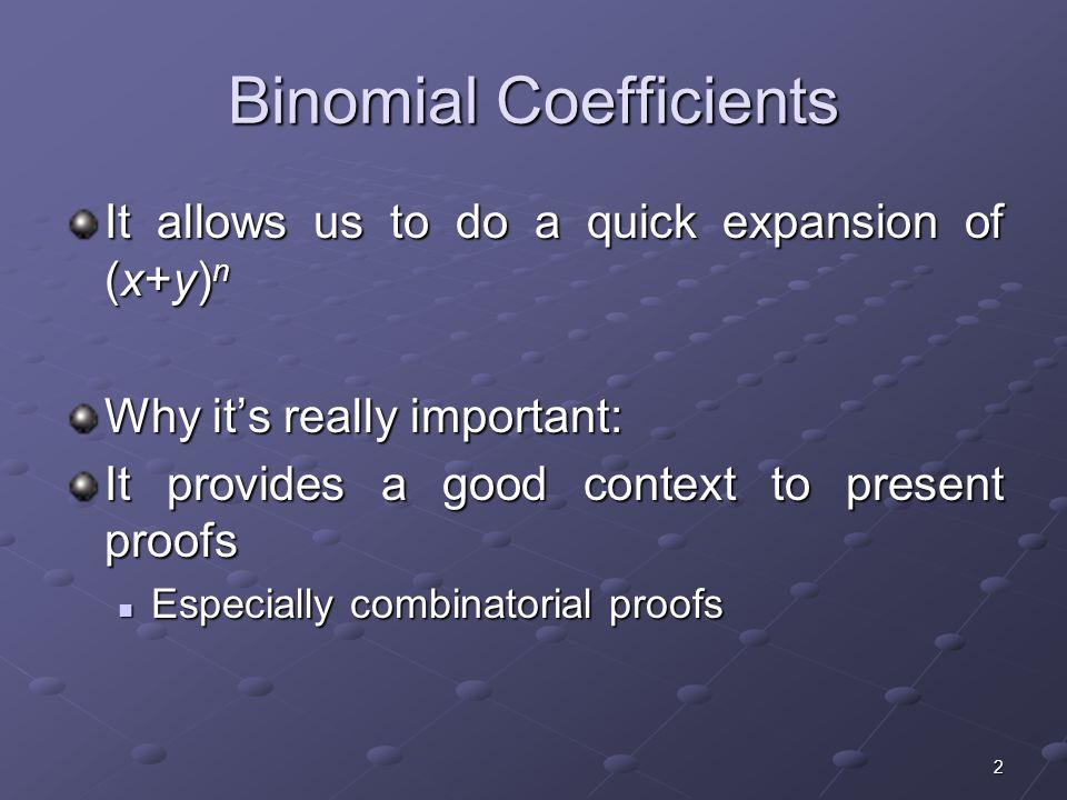 Binomial Coefficients