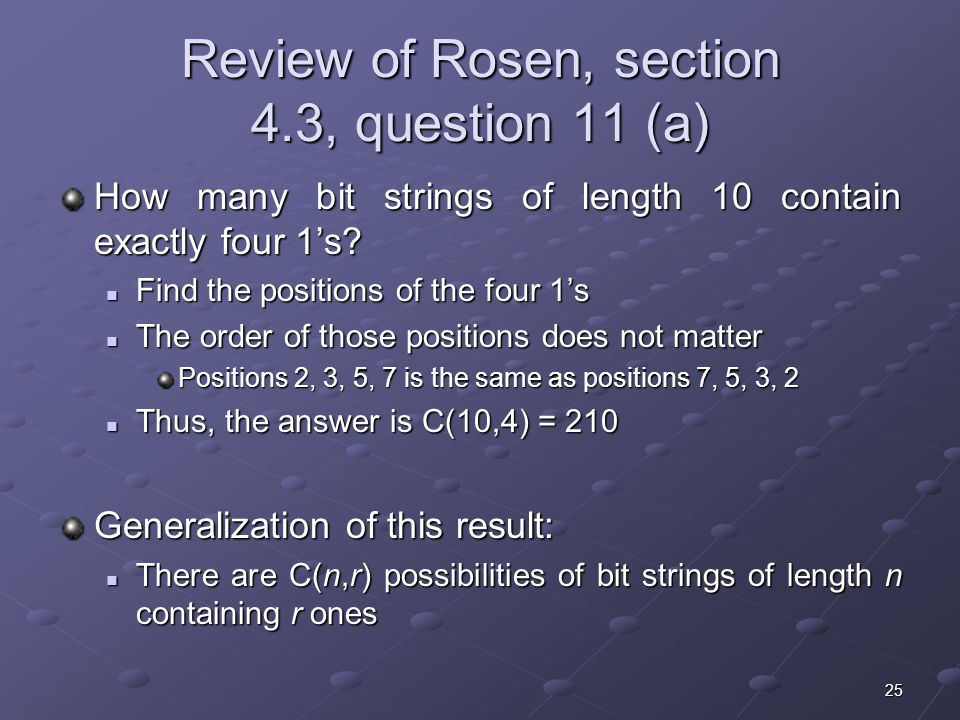Review of Rosen, section 4.3, question 11 (a)