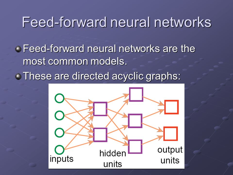 Feed-forward neural networks
