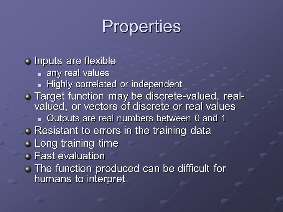 Properties Inputs are flexible