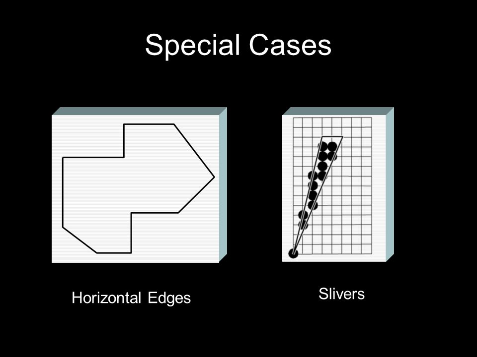 Special Cases Slivers Horizontal Edges