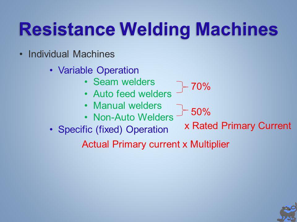 Resistance Welding Machines
