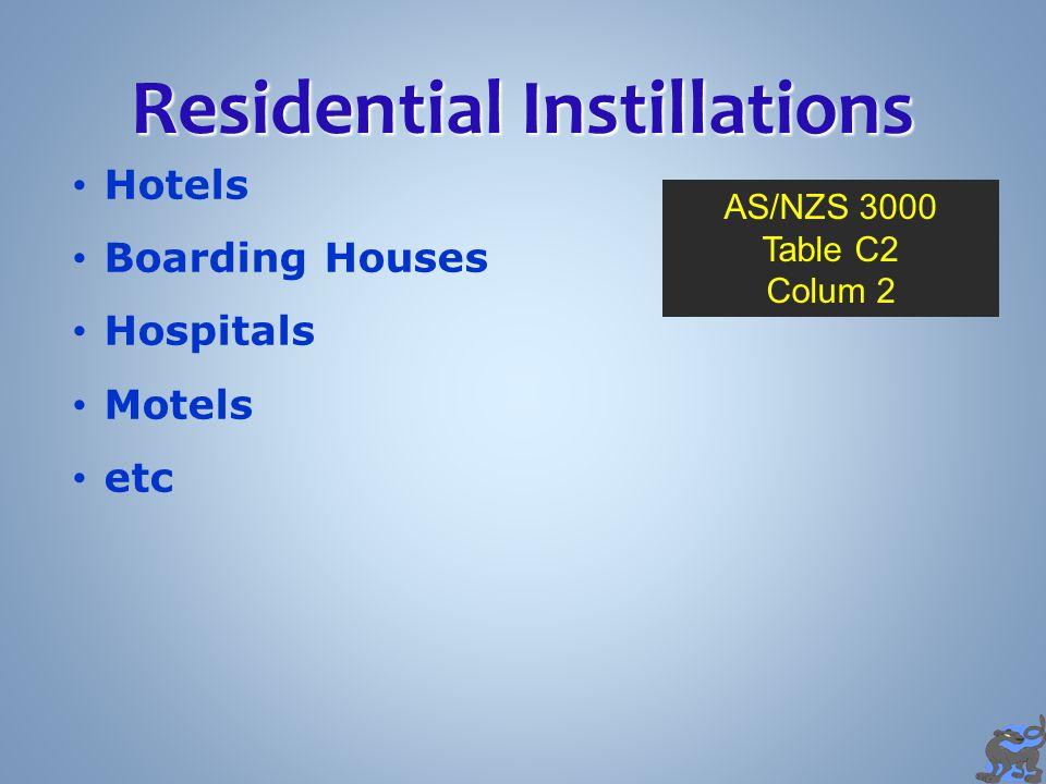 Residential Instillations