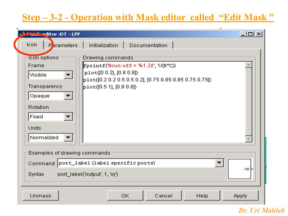 Step – 3-2 - Operation with Mask editor called Edit Mask