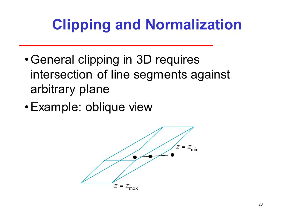 Clipping and Normalization