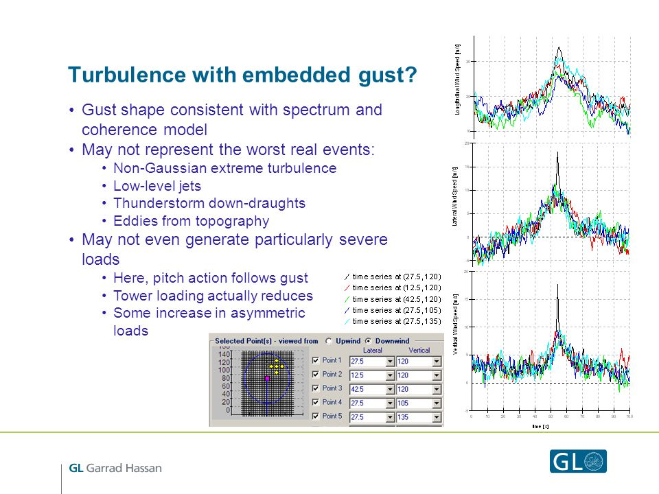 Turbulence with embedded gust