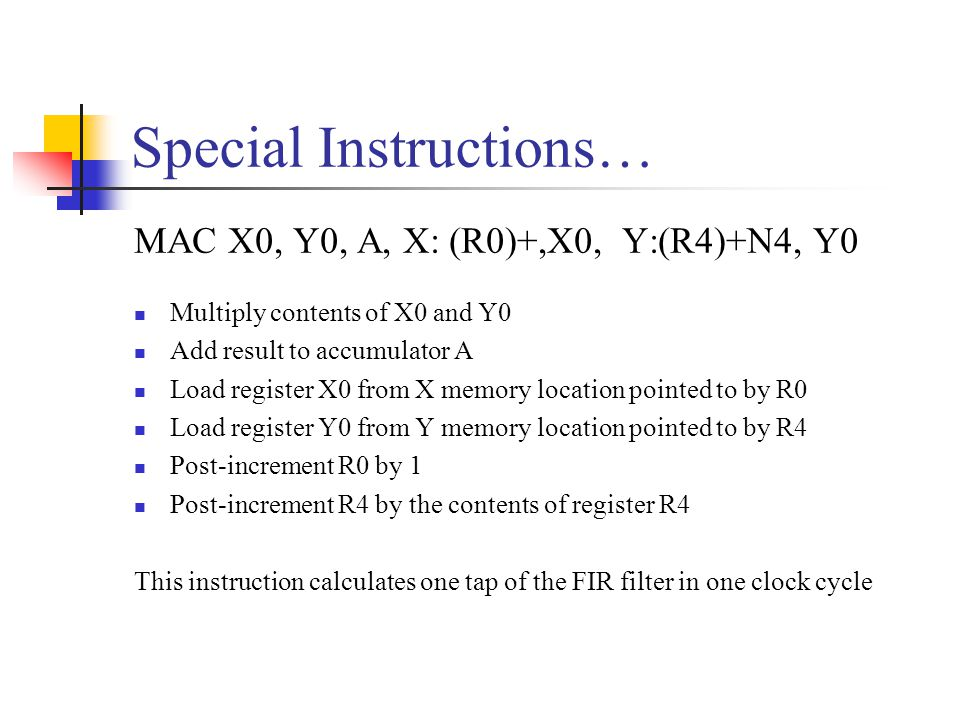 Special Instructions…