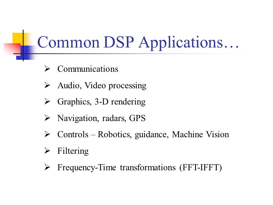 Common DSP Applications…
