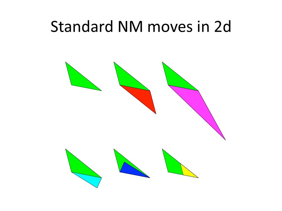 Standard NM moves in 2d