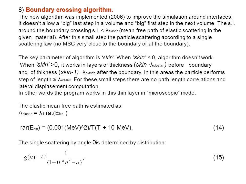 8) Boundary crossing algorithm.
