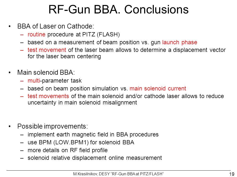 RF-Gun BBA. Conclusions