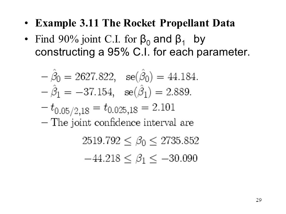 Example 3.11 The Rocket Propellant Data