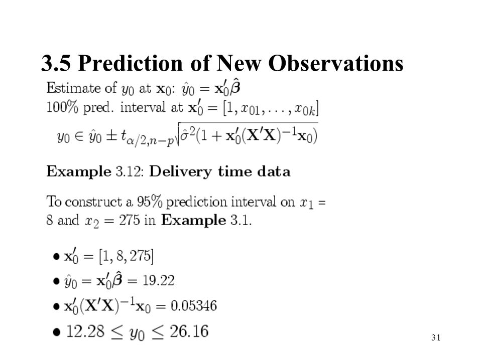 3.5 Prediction of New Observations