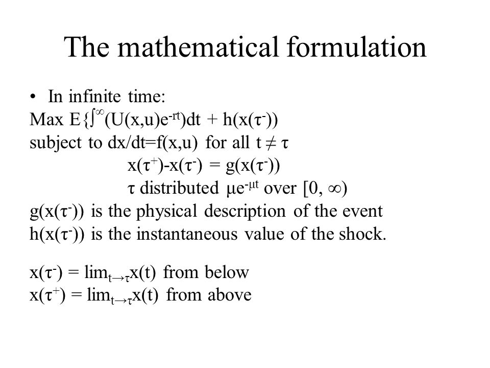 The mathematical formulation
