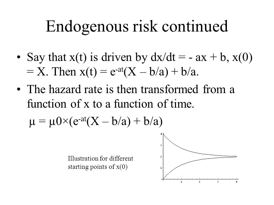 Endogenous risk continued