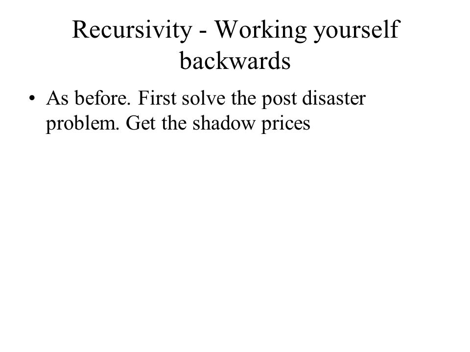 Recursivity - Working yourself backwards