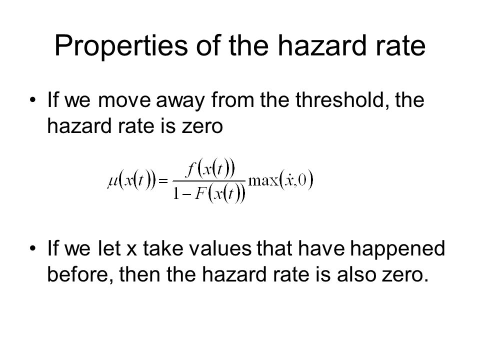 Properties of the hazard rate