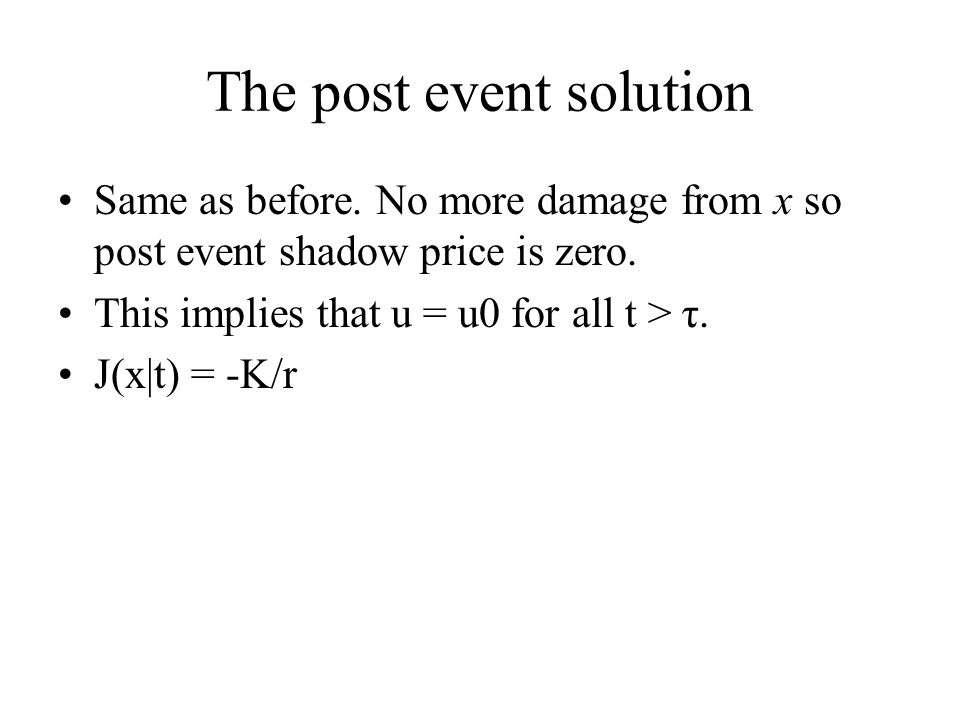 The post event solution