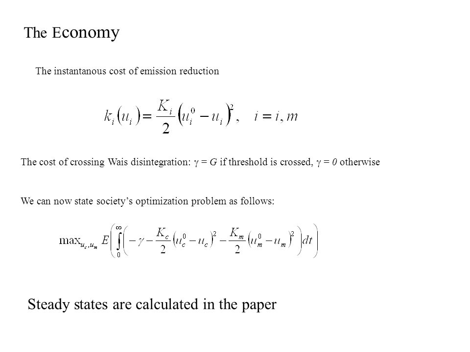 Steady states are calculated in the paper