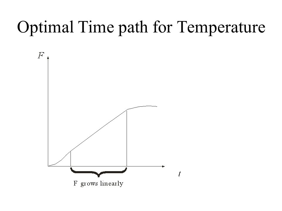 Optimal Time path for Temperature