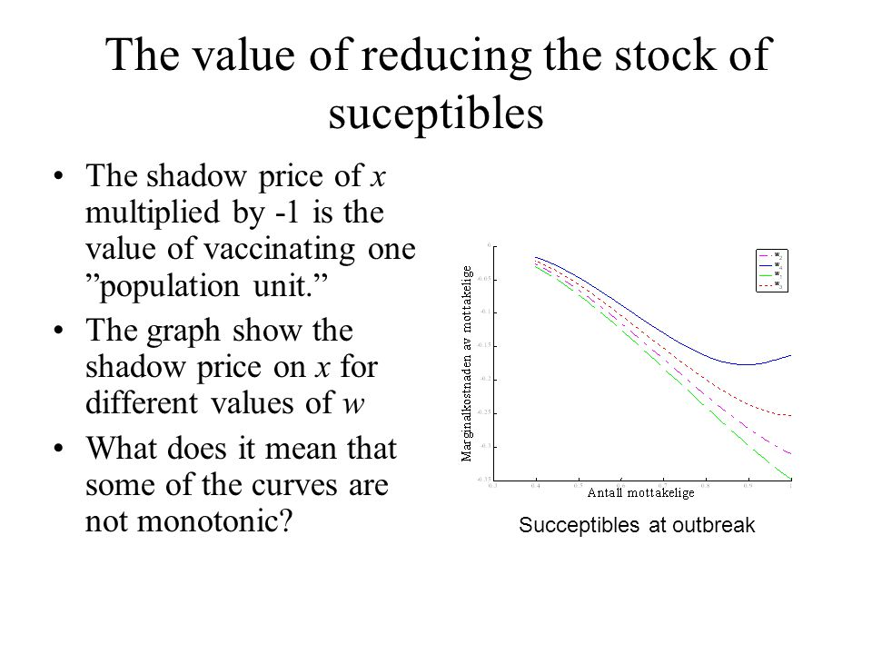 The value of reducing the stock of suceptibles