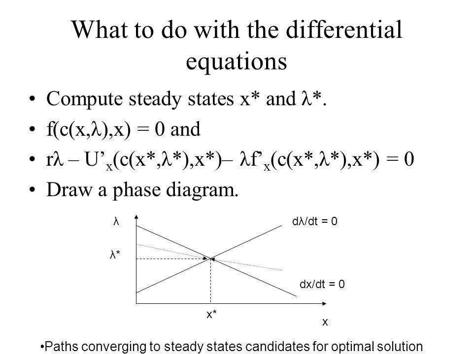 What to do with the differential equations