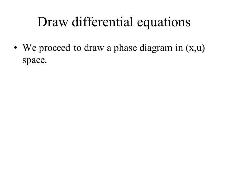 Draw differential equations