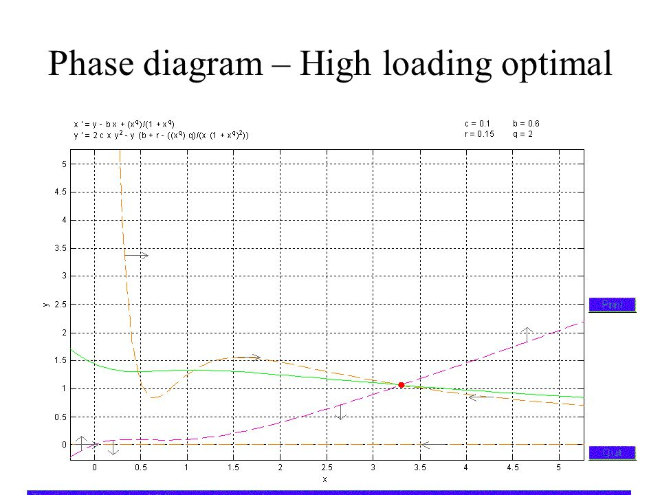 Phase diagram – High loading optimal