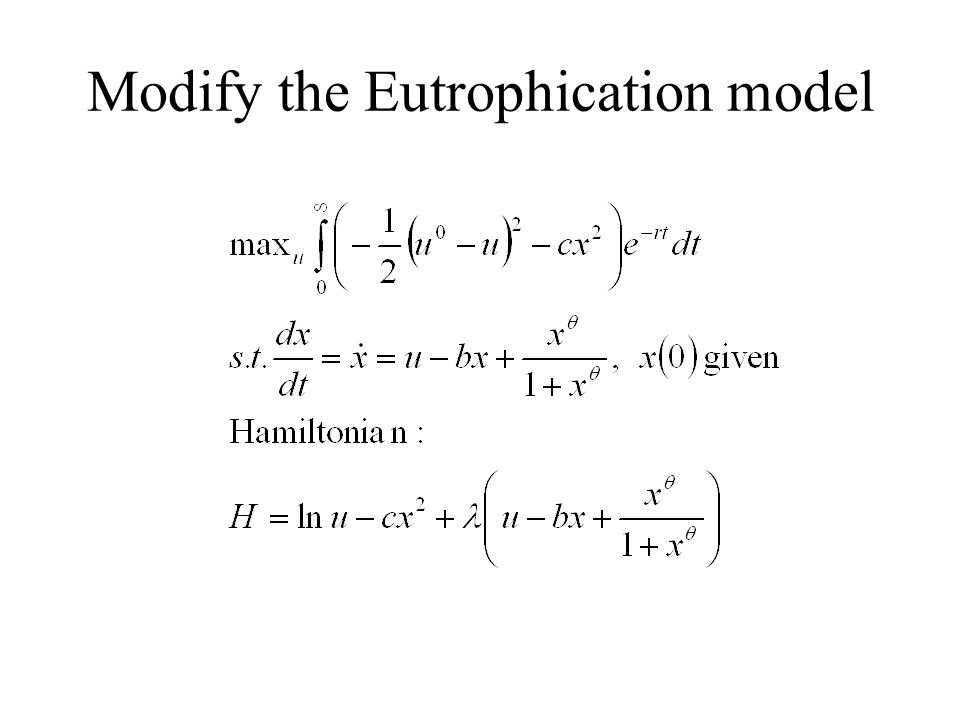 Modify the Eutrophication model