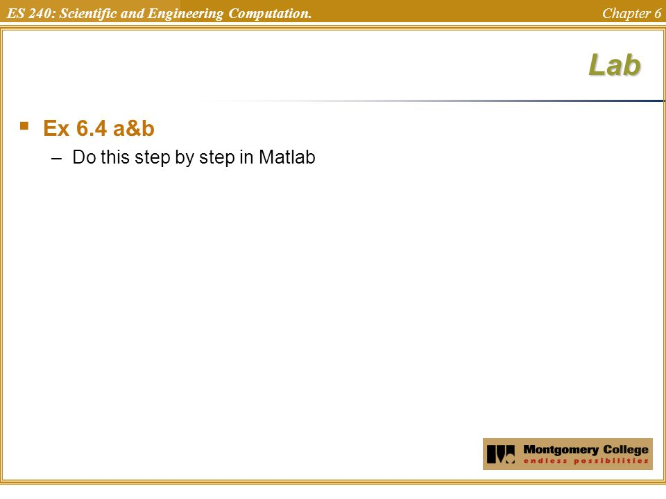 Lab Ex 6.4 a&b Do this step by step in Matlab