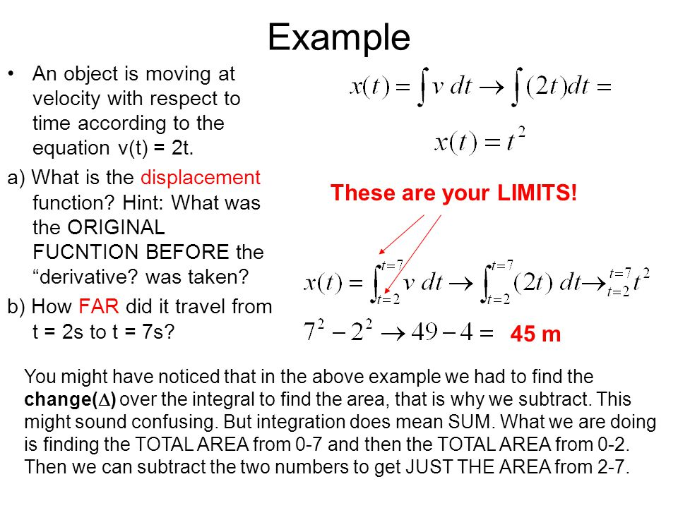 Example These are your LIMITS! 45 m