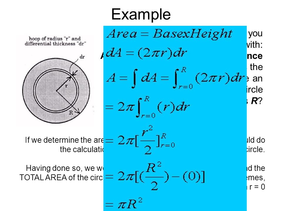 Example Here is a simple example of which you may be familiar with: