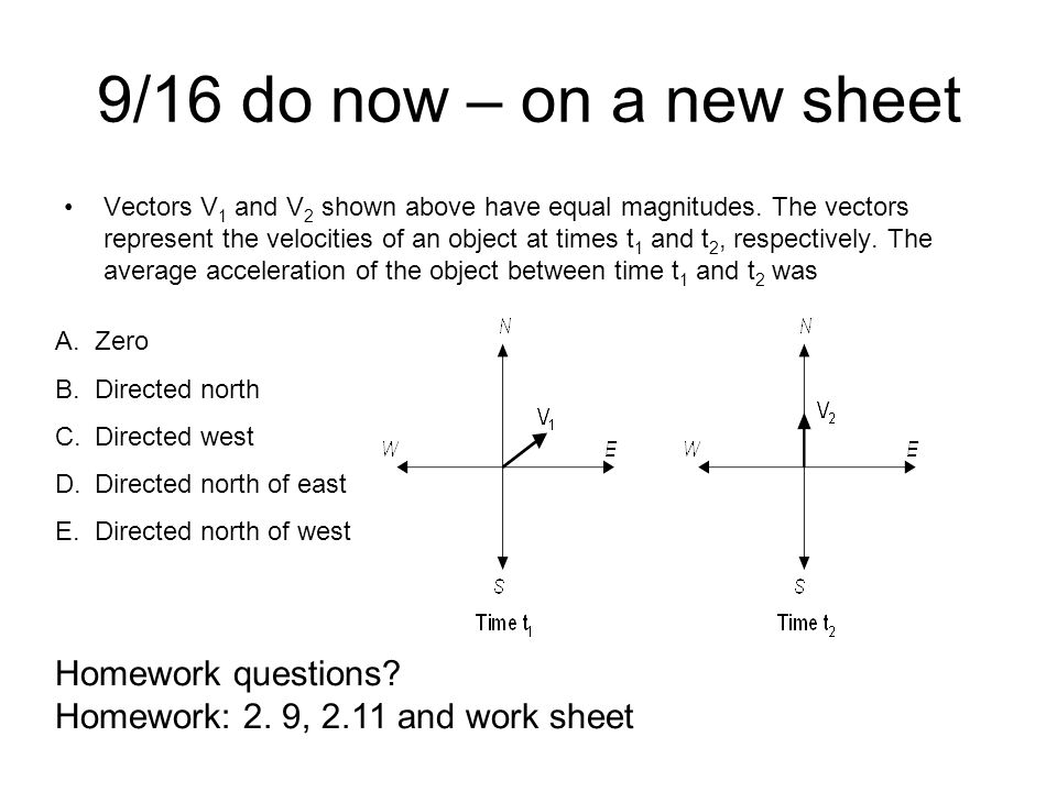 9/16 do now – on a new sheet Homework questions