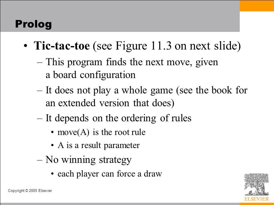 Tic-tac-toe (see Figure 11.3 on next slide)