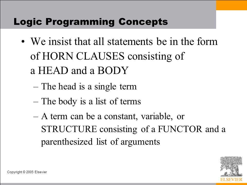 Logic Programming Concepts