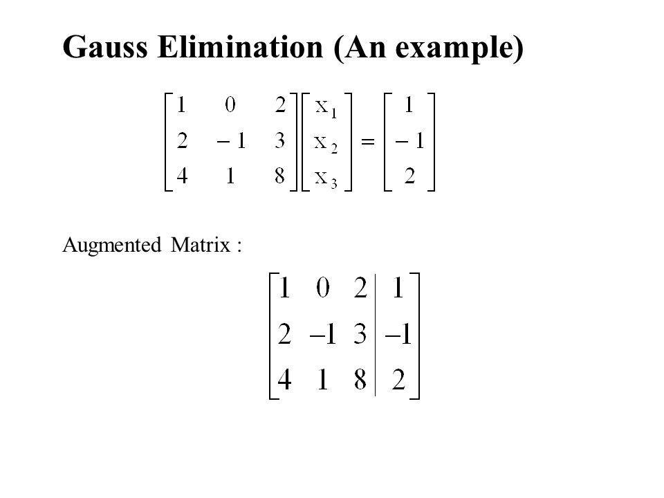 Gauss Elimination (An example)