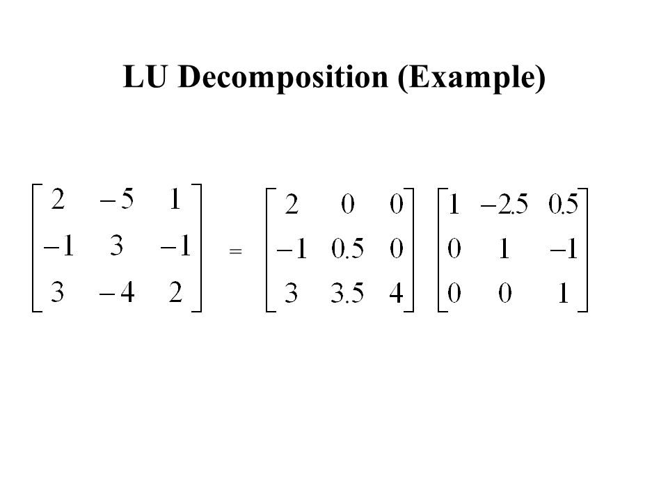 lu decomposition method example pdf