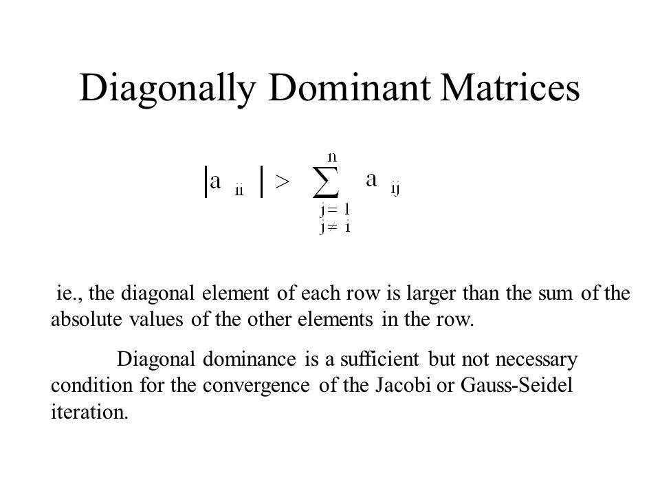 Diagonally Dominant Matrices