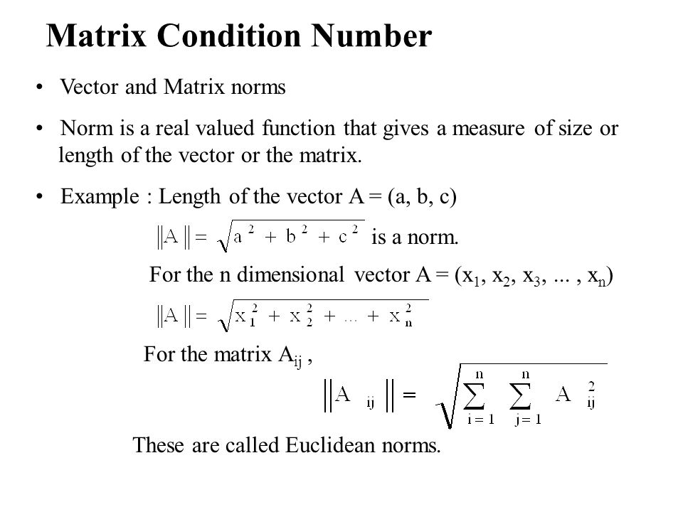 Matrix Condition Number