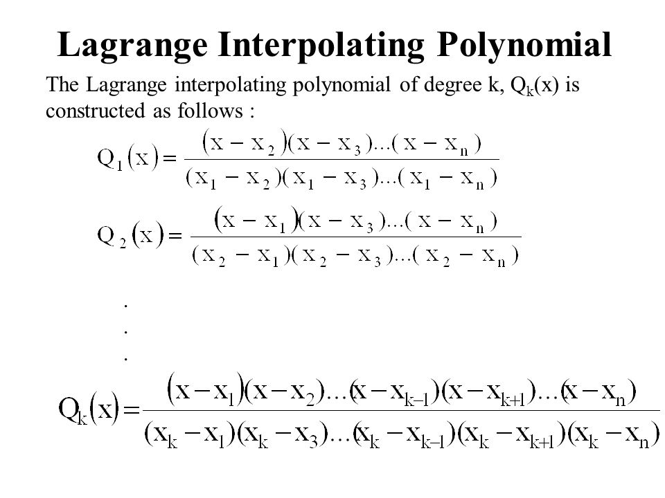 Lagrange Interpolating Polynomial