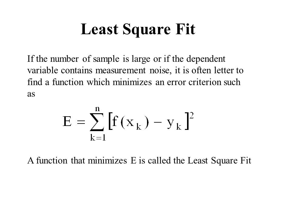 Least Square Fit