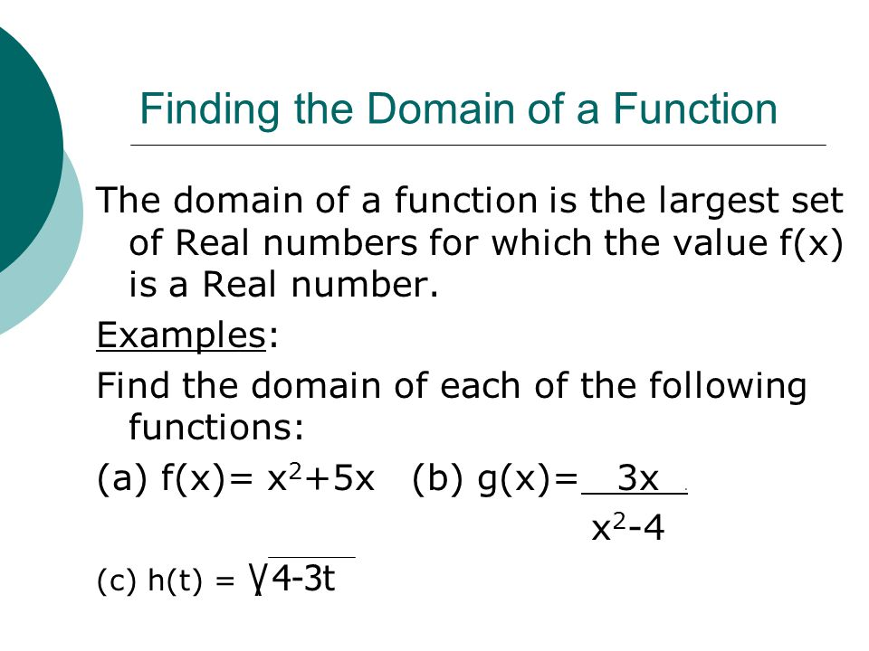 Finding the Domain of a Function
