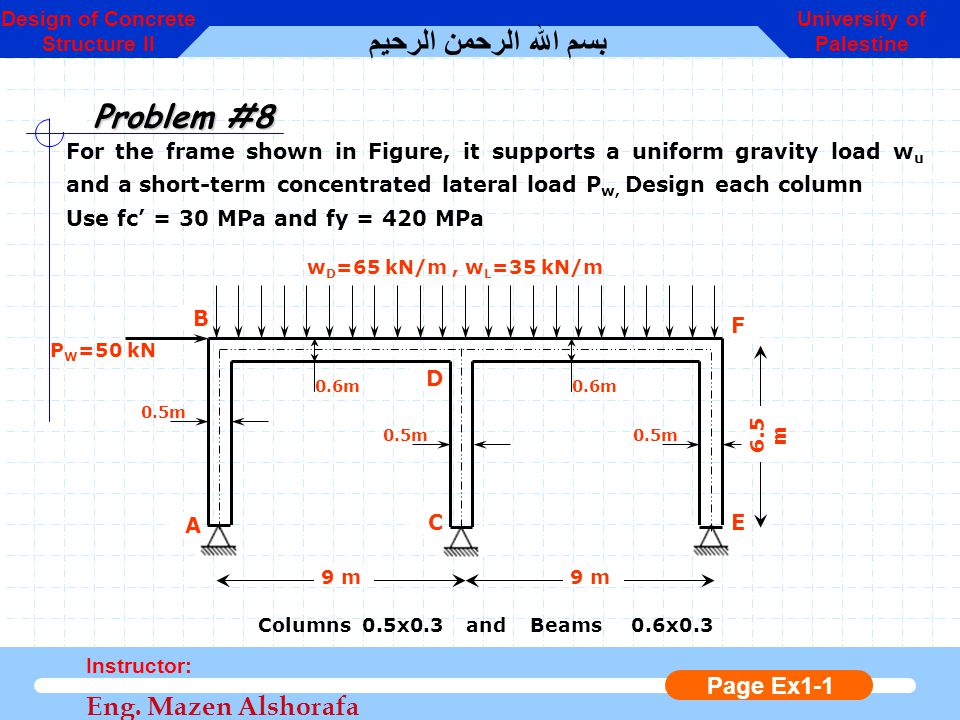 Design of Concrete Structure II University of Palestine