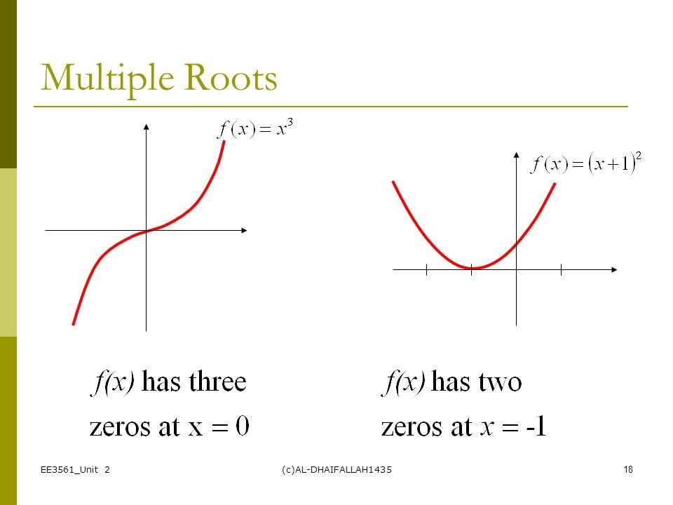Multiple Roots EE3561_Unit 2 (c)AL-DHAIFALLAH1435
