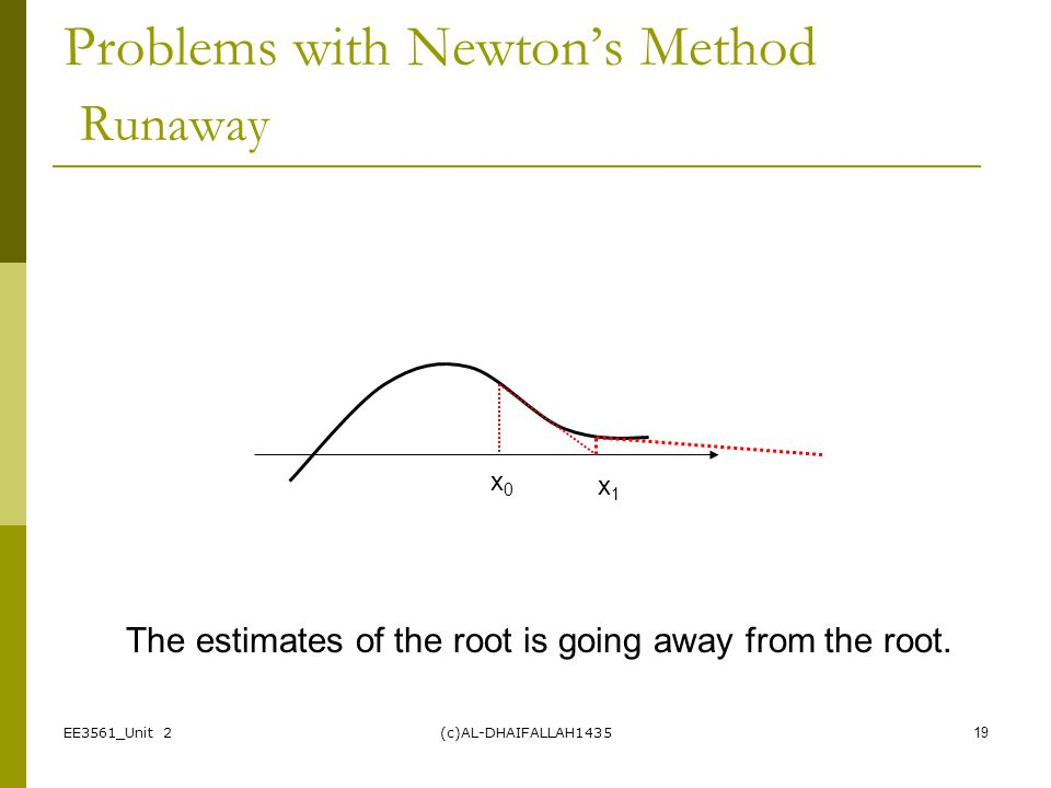 Problems with Newton's Method Runaway